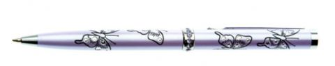 Sea Gems Crystal Butterfly Ballpoint Pens With Multiple Coloured Bodies